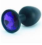 Силиконовая пробка с синим кристаллом