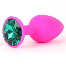 Розовая пробка с зелёным кристаллом